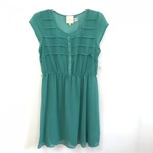 Modcloth Emerald Green Midi Dress XL